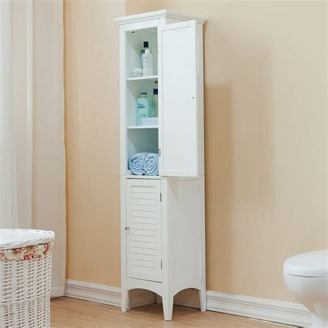 bathroom tower cabinet white white linens towers and linens on pinterest