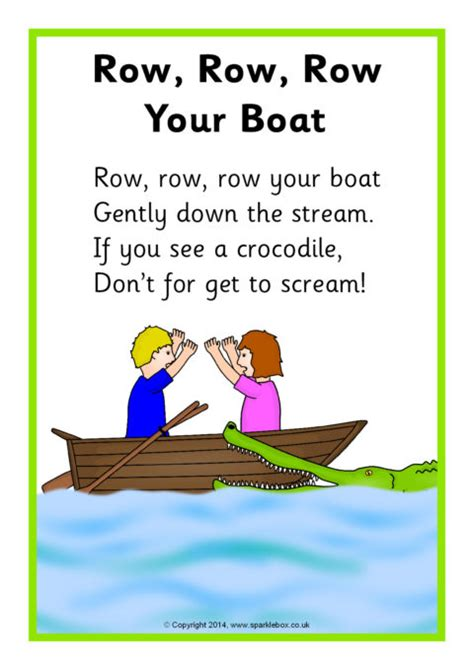 steam boat song row row row your boat song sheet sb10945 sparklebox