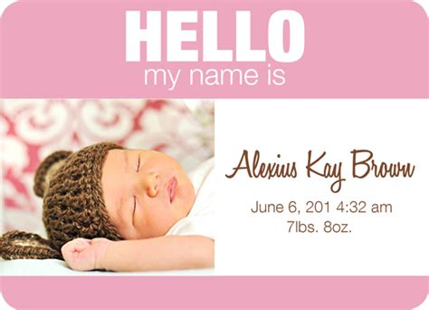 name tag design challenge birth announcements baby name tag girl version 2 at