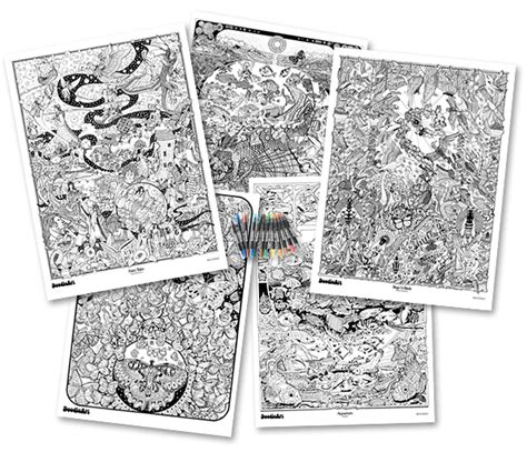doodle house coloring poster doodle coloring posters