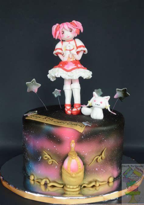 Japanese Cheese Cake By Jc Cakery puella magi madoka magica anime birthday cake cake by