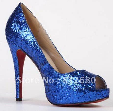 Prewalker Heels Sparkling Blue blue glitter heels