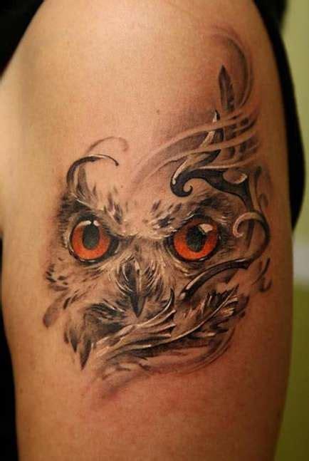owl eyes tattoo owls design shortlist
