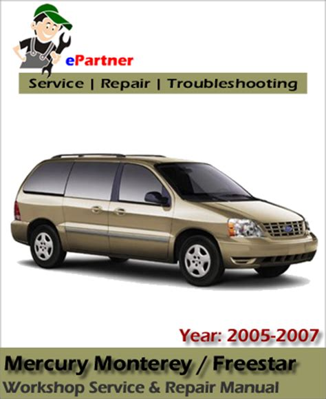 mercury monterey 2005 2006 2007 service repair workshop manual