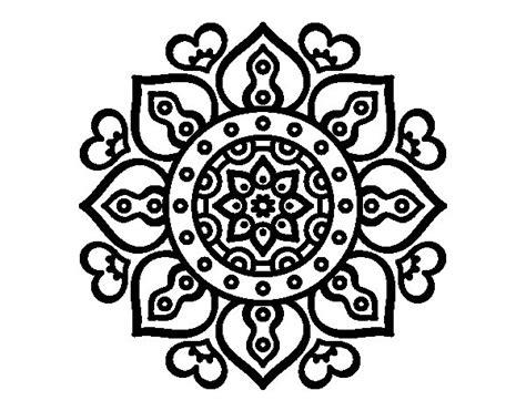 Imagenes Mandalas Arabes | dibujo de mandala corazones 225 rabes para colorear dibujos net