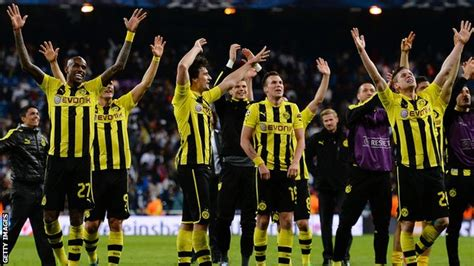 futon dortmund team during their chions league semi second leg