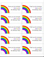 free rainbow party printables mess for less