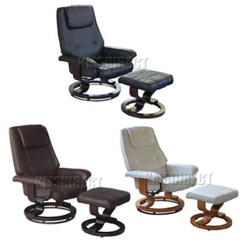 Office Chair Recliner Ergonomic by New Faux Leather Ergonomic Office Armchair Swivel Recliner