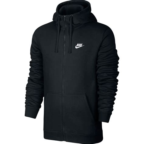 Jaket Sweater Hoodie Zipper Cotton 010 nike club fleece zip longsleeve s hoodie black white 804389 010 ebay