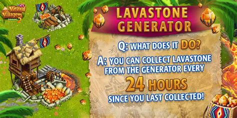 lavastone generator  arrived virtual villagers origins  facebook