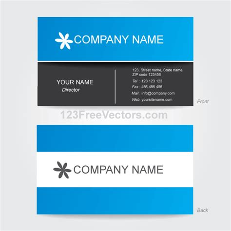 corporate business card template illustrator download