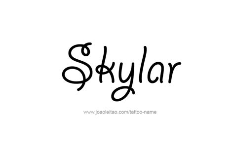 skylar name tattoo designs