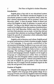 short essay on importance of english language for students
