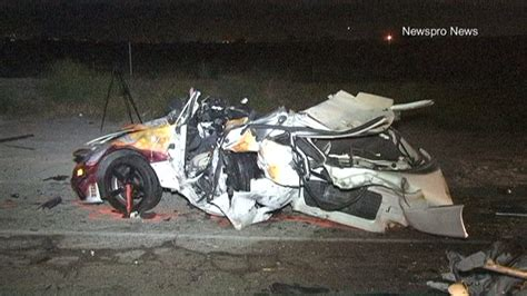 horrific car crashes on driver killed 3 injured when race between
