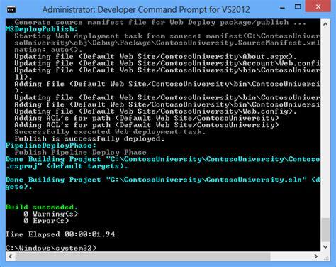 reset visual studio settings cmd msbuild command line parameters platform