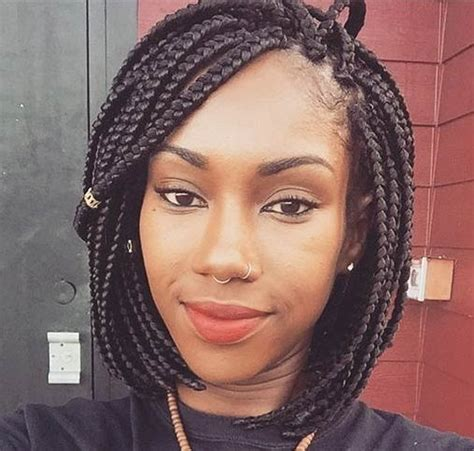 short hairstyles for black women box braids short hairstyles for black women