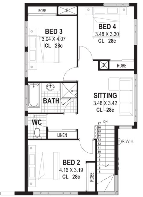 10 Bedroom Wide Floor Plans - 10m wide house plans home designs perth vision one homes