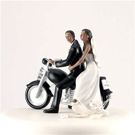 'Getaway' Motorcycle Wedding Cake Topper   The Knot Shop