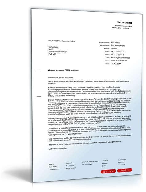 Vorlage Kündigung Arbeitsvertrag Wegen Mobbing Widerspruch Gegen Gema Geb 252 Hren Vorlage Zum