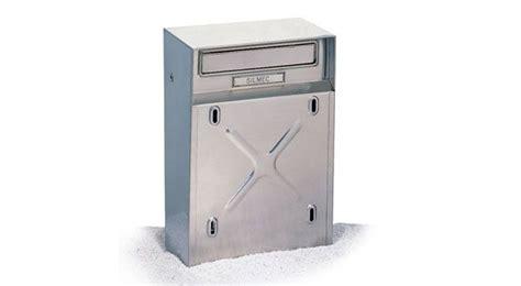 cassette postali esterne cassetta postale per recinzioni inox mod 10 009 silmec 10 009