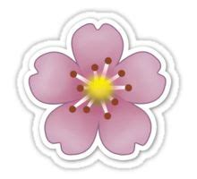 Flower Design Emoji | quot pink flower emoji quot stickers by brogy2323 redbubble