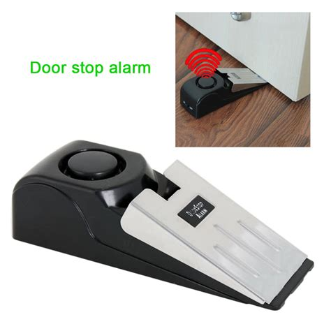 house alarm window sensors mini wireless vibration triggered door stop alarm home