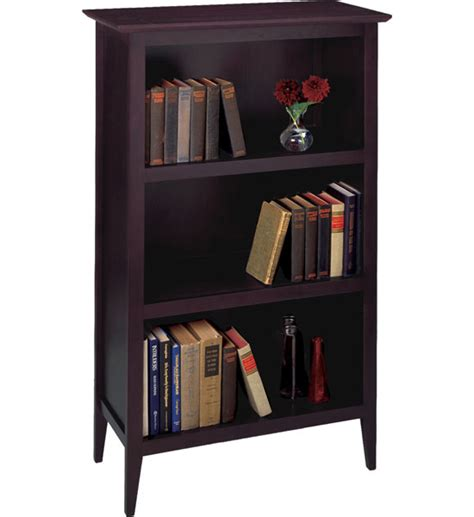 dark espresso book shelf in bookcases