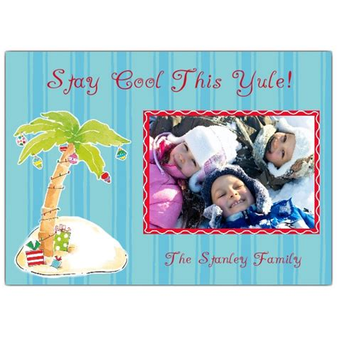 tropical christmas photo cards paperstyle