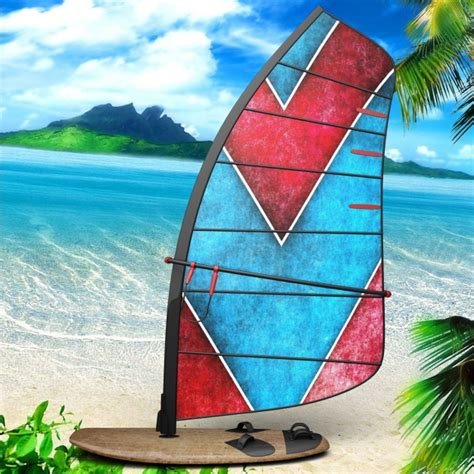 windsurfer template windsurf board presentation design psd file free