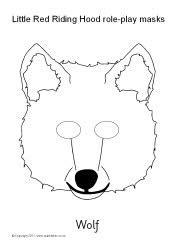 printable masks for little red riding hood little red riding hood role play masks black and white