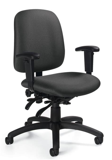 Global Upholstery Co by Global Goal Low Back Ergonomic Task Chair For Sale