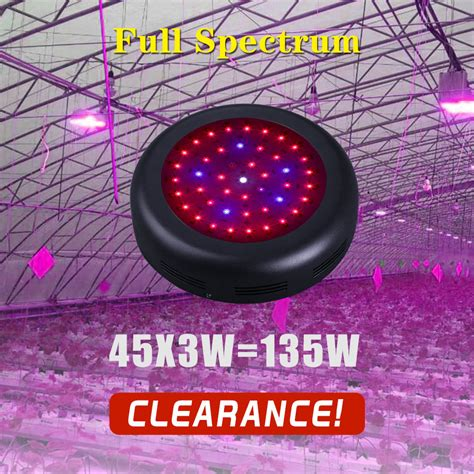 full spectrum non uv light bulbs free shipping 135w led grow light ir uv full spectrum