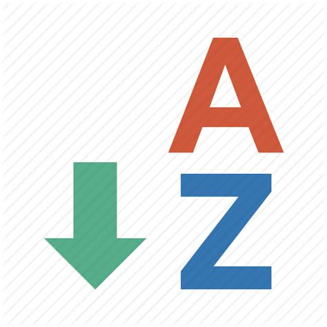 A To Z Search Arrow Direction Disrection Normal Order Sort Sort A Z Sorting Sorting A