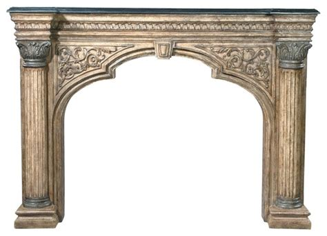 ambella home fireplace surround arched traditional