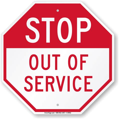 How To Make A Stop Sign Out Of Paper - stop out of service sign sku k 9952 mysafetysign