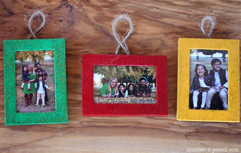 christmas ornaments from dollar store picture frames no
