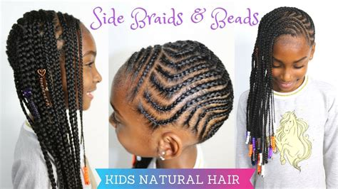 haircuts killeen tx kids natural hairstyles side braids beads tutorial