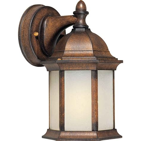 Rustic Outdoor Lighting Shop 10 In H Rustic Outdoor Wall Light At Lowes