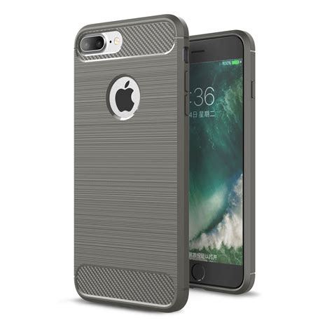 Softcase Luxury Carbon Fiber Soft Cover Casing Iphone 7 7s Plus luxury shockproof rubber soft tpu phone cover for apple iphone 6 6s 7 plus ebay