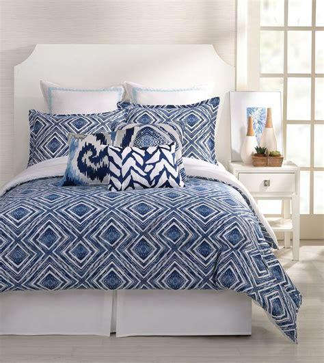 trina turk comforter set trina turk 3 piece silver lake comforter set queen blue