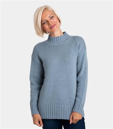 Turtle Neck Wool Sweater blue mist wool blend womens wool blend chunky turtle