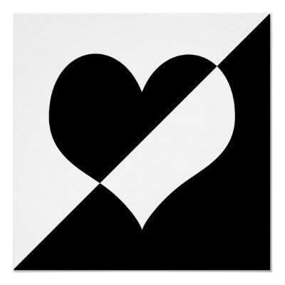 imagenes blanco y negro corazones corazon en blanco y negro pictures to pin on pinterest