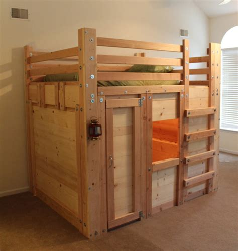fort bunk bed queen sized bed fort with twin mattress rustic kids