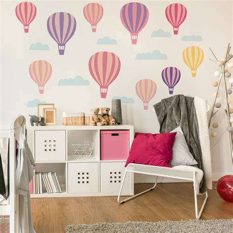 Air Balloons Wall Sticker air balloon wall stickers by parkins interiors