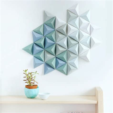 geometric wall decor 15 simple diys to repurpose those old stacks of magazines