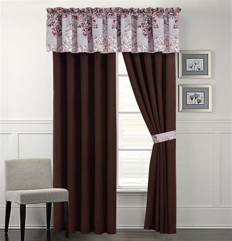 brown and silver curtains camarillo silver brown curtain set