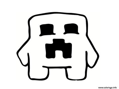 Coloriage Creeper Minecraft Dessin