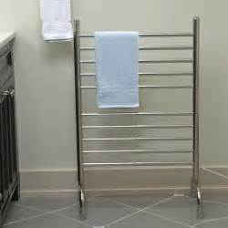 bathroom free standing towel rack with front black free