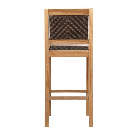 teak bar stools outdoor matalinda teak outdoor bar stool outdoor