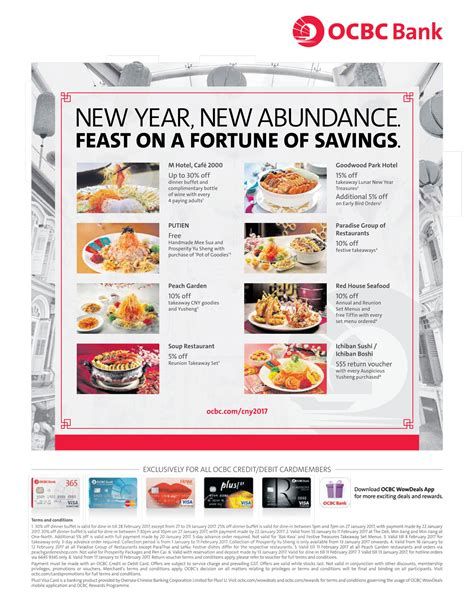 new year hotel deals in singapore ocbc new year dining deals 30 dinner buffet m